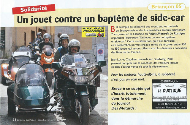 Article baptême side-car
